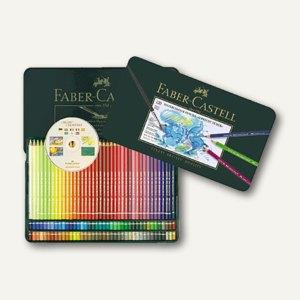 Faber-Castell Aquarell Farbstifte, Metalletui, 120 Stück mit CD-ROM, 117511