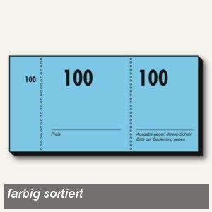 Sigel Nummernblock, 105 x 50 mm, sortiert, 10 x 100 Blatt, GN110