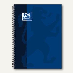 Collegeblock DIN A4 kariert, 90g/m², 80 Blatt, Rand links, sortiert, 100050358