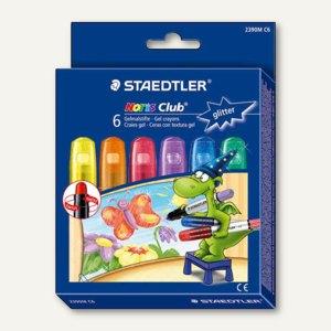 """Staedtler Gelmalstifte NORIS CLUB """"Glitter"""", Etui mit 6 Stiften, 2390MC6"""