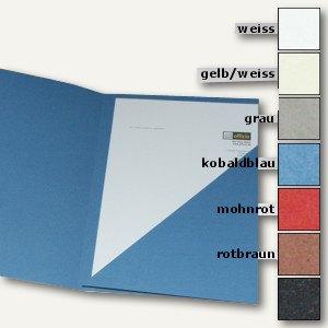 Präsentations-Mappe DIN A4 360g/m²-Papier, gelblich/weiß, 10er Pack, 997.700
