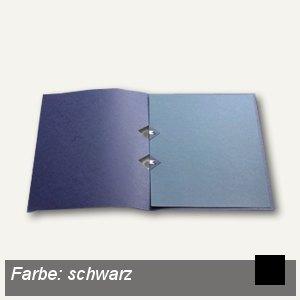 Präsentationsmappe A4, Karton, Japanclips, schwarz, 10 St., 997.812