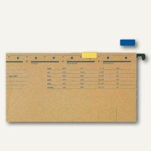LEITZ Signalreiter für ALPHA Hängeregistratur, blau, 50 Stück, 60690035
