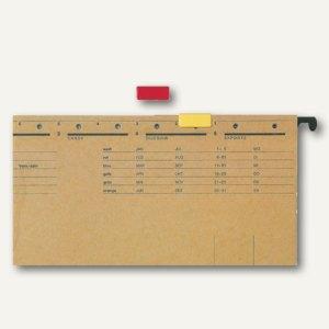LEITZ Signalreiter für ALPHA Hängeregistratur, rot, 50 Stück, 60690025