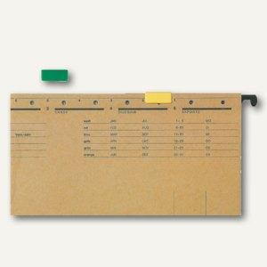 LEITZ Signalreiter für ALPHA Hängeregistratur, grün, 50 Stück, 60690055