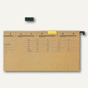 LEITZ Signalreiter für ALPHA Hängeregistratur, schwarz, 50 Stück, 60690095