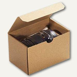 Klappdeckelbox 140x90x90mm, Einsteckdeckel, Wellpappe braun, 100 St., 5511118