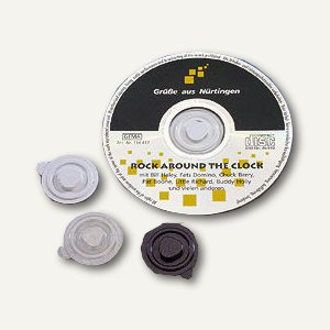 CD Befestigungs-Clips aus Kunststoff, Ø 35mm, transparent, 1.000 St., 92580-2