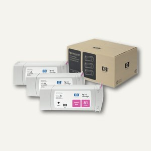 HP Tintenpatrone magenta Nr.81, 3er-Pack, C5068A