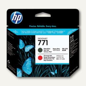 HP Druckkopf Nr.771, mattschwarz-rot, CE017A