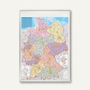Deutschlandkarte Postleitzahlen, 140 x 100 cm, pinnbar & beschreibbar, KA445P