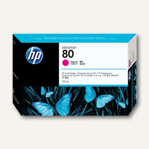 HP Tintenpatrone Nr.80 magenta - 175 ml, C4874A