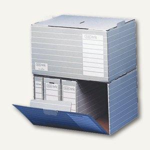 Elba Tric Unibox Archivbox f. DIN A4, A3, Folio, grau/weiß, 10er Pack, 100552040