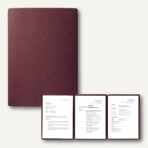 Pagna Bewerbungsmappe SHIFT, DIN A4, 3-teilig, Karton, aubergine, 44134-10