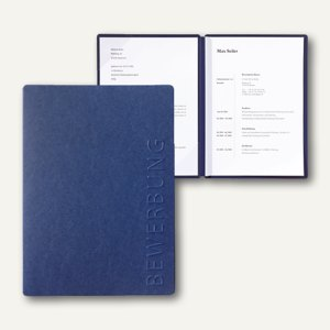 Pagna Bewerbungsmappe STREAM, 2-teilig, Karton, blau, 44122-02