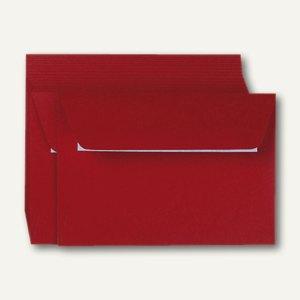 Clairefontaine Briefumschlag C6, haftklebend 120 g/m², kirschrot, 20 St., 5586C