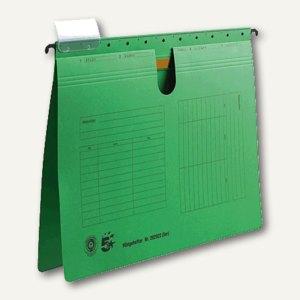 officio Hängehefter, DIN A4, kaufmännische Heftung, grün, 5 Stück