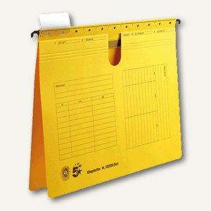 officio Hängehefter, DIN A4, kaufmännische Heftung, gelb, 5 Stück