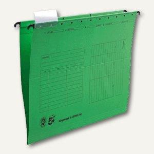 officio Hängemappe Natron, DIN A4, seitlich offen, grün, 5 Stück