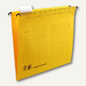 officio Hängemappe, DIN A4, seitlich offen, gelb, 5 Stück