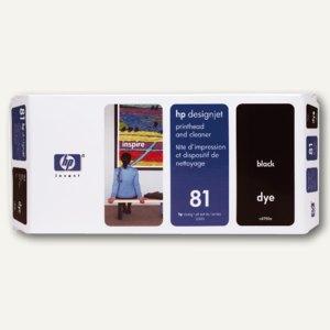 HP Druckkopf inkl. Reiniger, Nr.81, schwarz, C4950A