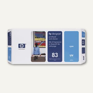 HP UV Druckkopf Nr.83 cyan inkl. Reiniger, C4961A