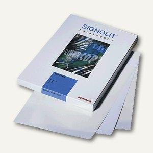 Signolit selbstklebende Kopier-S/W-Laserdruckfolie DIN A4, weiß/opak, 100 Blatt,