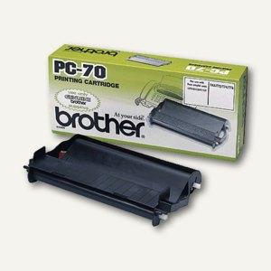 Brother Thermotransferrolle für Faxgeräte inkl. Kassette, PC-70