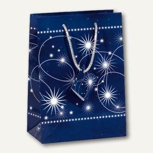 Sigel Geschenktasche Blue Mystery, 260x330x120mm,128 g/qm, 5 Stück, GT001