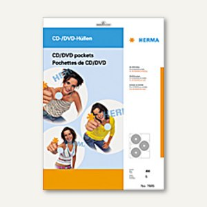 Herma CD/DVD-Hüllen, 306.5x233 mm, 5 Hüllen, 7685