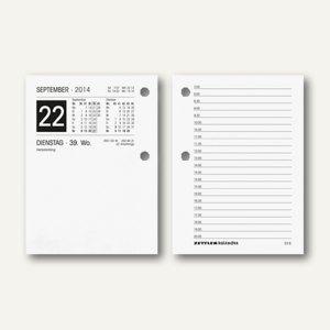 Zettler Umlegekalender Ersatzkalendarium - 8 x 11 cm, 1 Tag/2 Seiten, 336