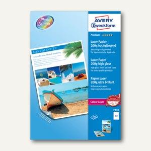 "Zweckform Laser-Papier ""Premium Colour"", DIN A4, 200 g/m², 100 Blatt, 2798"
