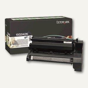 Lexmark Toner schwarz prebate - ca. 15.000 Seiten, 15G042K