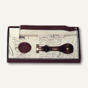 Lalo Siegel-Geschenkset, Siegel mit Holzgriff und Siegellack, 46001T