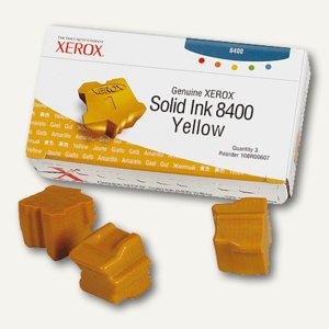 Tektronix / Xerox ColorStix gelb (3er Pack), 108R00607