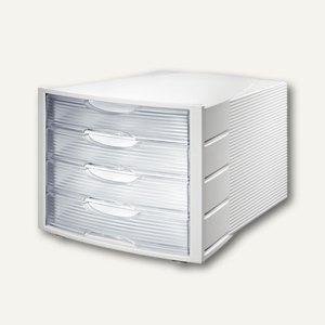 HAN Schubladenbox MONITOR, vier geschlossene Schübe, grau/klar, 1001-D-63