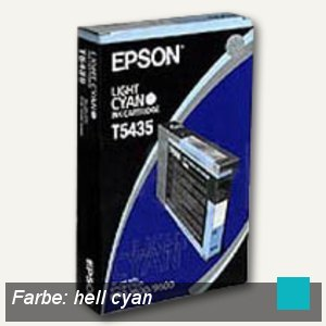 Epson Tintenpatrone, hell-cyan, 110 ml, C13T543500