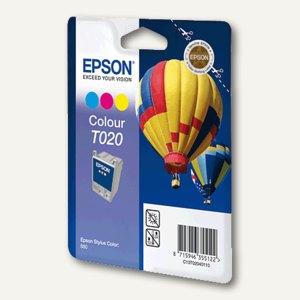 Epson Tintenpatrone T020, farbig, C13T02040110