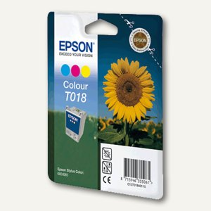 Epson Tintenpatrone T018, farbig, C13T01840110