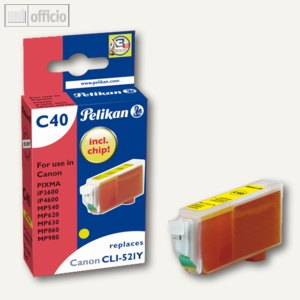 Tintenpatrone C40 für Canon CLI521Y