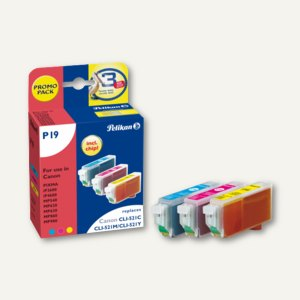 Multipack-Tintenpatronen für Canon CLI521