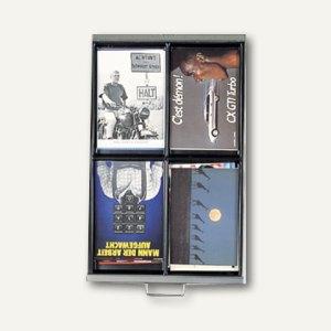 Bisley Schubladeneinsatz für DIN A4, 4 Fächer, Höhe 51 mm, 227P1800
