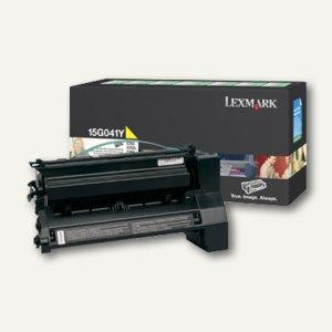 Lexmark Toner gelb prebate - ca. 6.000 Seiten, 15G041Y