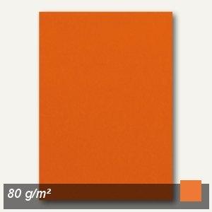 Clairefontaine Kopierpapier, DIN A4, 80g/m², clementine-orange, 100 Blatt, 4108c