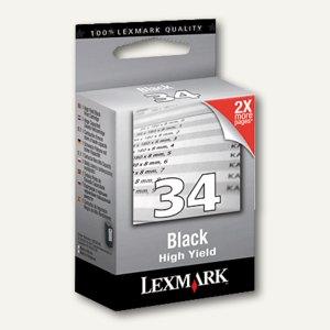 Lexmark Tintenpatrone Nr.34XL - hohe Kapazität, schwarz, 18C0034E