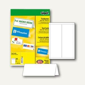 Tischkarten 240 x 90/180 mm