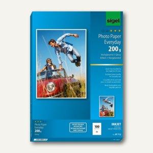 """Sigel Fotopapier """"Everyday"""", DIN A4, hochglänzend, 200 g/m², 100St., IP712"""