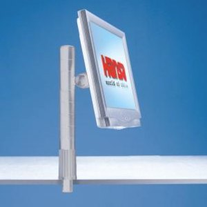 Hansa LCD-Monitorhalter mit Tischklemme, lichtgrau, 5070002