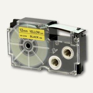 Casio Beschriftungsband 12 mm/8 m, schwarz auf gelb, XR-12YW