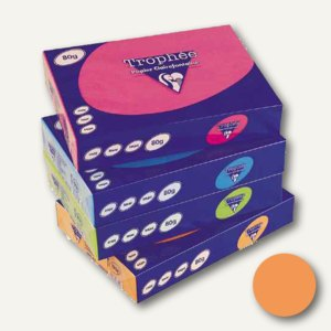 Clairefontaine Papier Trophee Intensiv DIN A4, 120g/m², orange, 1763C